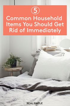5 Household Items You Should Get Rid of Immediately   Hang onto these four household staples longer than you should, and you risk spreading germs, dirt, or dust around your entire home. See the full list of the common items you should get rid of and replace along with other life hacks. #declutter #organizationtips #realsimple #declutterideas #howtoclean #homeorganization Diy Cleaning Products, Cleaning Hacks, Laundry Hacks, Tidy Up, Real Simple, Shopping Hacks, Household Items, Home Organization, Declutter