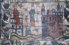 Biserica de lemn din Deseşti, judeţul Maramureş - Dumineca Samarinencei Religious Paintings, Orthodox Christianity, Popular Art, Romania, Glass, Drinkware, Corning Glass, Yuri, Tumbler