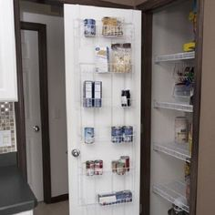 Over the Door Pantry Organizer 6 Shelves Cans Spices Kitchen Bath Utility Room #…