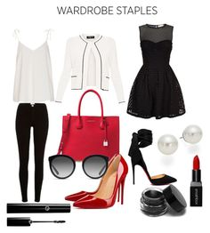 """""""My wardrobe staples"""" by amica-theunissen on Polyvore featuring River Island, Michael Kors, Christian Louboutin, Paule Ka, Dolce&Gabbana, RED Valentino, AK Anne Klein and Smashbox"""