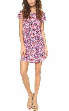 NEW  YUMI KIM Floral  Printed Dress Silk Short Sleeve Pink Garden Mini Small 4 6 #YumiKim #Floral