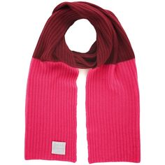 Orwell + Austen Cashmere - Shocking Pink & Burgundy Cashmere Scarf ($105) ❤ liked on Polyvore featuring accessories, scarves, pink scarves, woven scarves, pink cashmere scarves, cashmere shawl and cashmere scarves