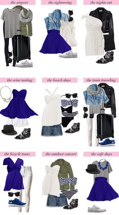 travel light: European vacation packing list