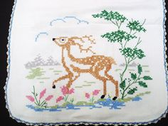 Beautiful Vintage Runner Hand Embroidery by VerasLinens on Etsy