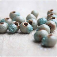 10mm (50 pieces) Brown Ice Crack Ceramic Round Beads