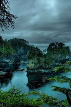 Neah Bay Trail, Cape Flattery, is the northwesternmost point of the contiguous United States. It is in Clallam County, Washington on the Olympic Peninsula. by Bill Ratcliffe