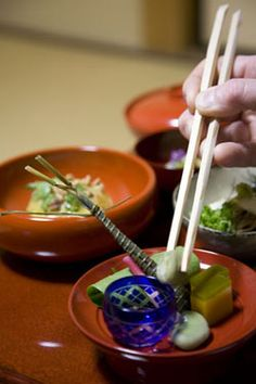 Japanese dining etiquette and the proper use of chopsticks http://www.savoryjapan.com/learn/culture/dining.etiquette.html