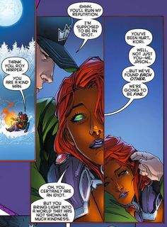 Starfire, Roy Harper / Arsenal & Jason Todd - Red Hood and the Outlaws - I love that they are such a band of misfits Young Justice, Comic Books Art, Comic Art, Redhood And The Outlaws, Red Hood Jason Todd, Univers Dc, Dc Memes, Nightwing, Marvel Dc Comics