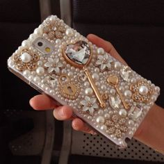 3D Bling Diamond KEY Pearl Case Cover For Samsung Galaxy Note 2 3 S5 i9600 i9500