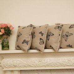 Boho decor #cushions #butterflies #linen #boho #bohemian #lace #bohohome #bohodecor