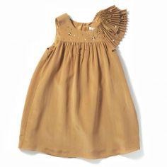 Chloe gold dress for little girls