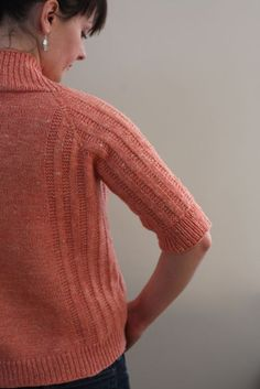 Spring Ribbed Cardi by Hannah Fettig - knit with The Fibre Company Savannah #knitting #cardigan #sweater #textured