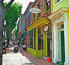 King Street, Alexandria Virginia.  I really liked this place it was like being in Mayberry with all the little shops and resturants and the cobblestone streets.