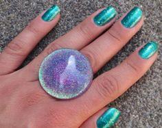 purple resin ring – Etsy