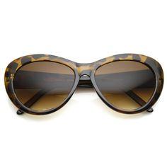 Retro Womens Rounded Cat Eye Fashion Designer Sunglasses 8756 | zeroUV