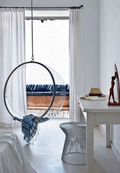I always found these bubble chairs really interesting. I wonder how comfortable they are.