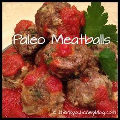 Paleo Meatballs!  Yummy!  Make a ton and freeze!  Serve with Paleo sauce or BBQ!