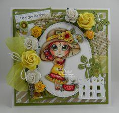 Love You Bunches Handmade OOAK Keepsake Card by thehoosierstamper, $14.95 USD