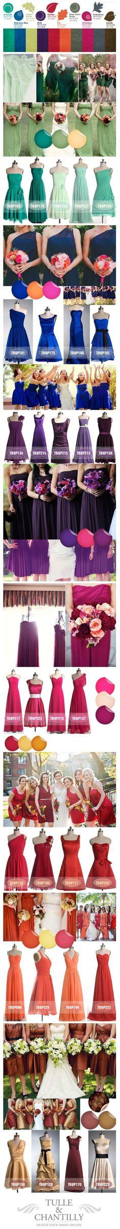 Bride Maid Dress Colors wedding bridesmaid bridesmaid dresses wedding dresses wedding color scheme