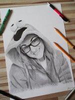 Drawing portrait woman www.facebook.com/portrety.obrazy https://instagram.com/lubomir.franciak/ http://www.portrety-obrazy.sk/