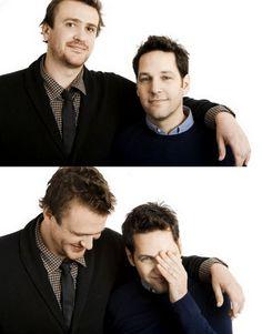 Jason Segal and Paul Rudd, dynamic duo. Love them both!!