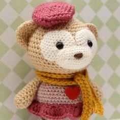 Satori the Monkey amigurumi crochet pattern by Little Muggles