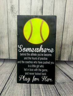 play for her softball bedroom decor wooden sign player gift wall hanging sports themed bedroom decorations team gift coach appreciation