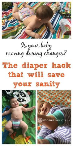 Do you have a baby that moves or kicks you as soon as you try to change his…