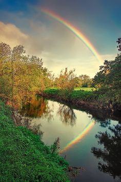 """When I see Rainbows Ireminded of Gods promise to mankind . The Rainbow is the sign of the covenant to remind us of his promise.. 11 I establish my covenant with you: Never again will all life be cut off by the waters of a flood; never again will there be a flood to destroy the earth."""" Genesis 9 verse11"""