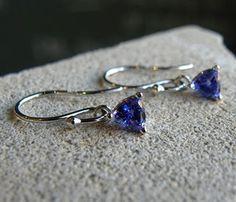 Simple but beautiful tanzanite earrings Geek Jewelry, Women Jewelry, Ladies Jewelry, Jewelry Ideas, Tanzanite Earrings, Dangle Earrings, Shades Of Violet, Anniversary Jewelry, Wedding Bracelet