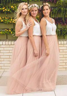2018 Hot Cheap Bridesmaid Dresses Tulle Skirt Blush Prom Dresses/Bridesmaid Maxi Skirt Evening Party Gowns Mermaid Bridesmaid Dresses Navy Blue Bridesmaid Dress From Weddingmuse, $50.86| Dhgate.Com