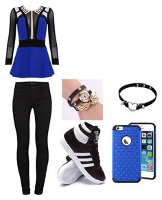 """Aint no suprise"" by reany1213 ❤ liked on Polyvore featuring beauty, adidas, Posh Girl and J Brand"