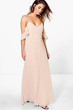 9243e7ca5c1 Gi Chiffon Strappy Open Shoulder Maxi Dress Easter Dress