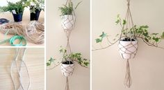 Gardenless? Short on space? Discover an originial idea to add lush greenery to even the tiniest of abodes with our DIY Vertical Plant Hanger Tutorial.