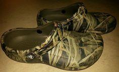 Mens Camouflage Crocs Shoes 7 Shoes Slide Non Slip Oil Resistant Proof Brown   #Crocs #Slides