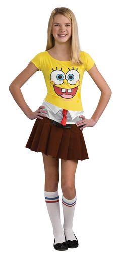 SpongeBob Girl Teen Costume Size: Teen- Halloween Costume Supplies