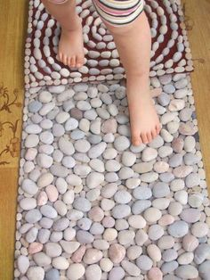 10 DIY Sensory Pebble Stones Rug