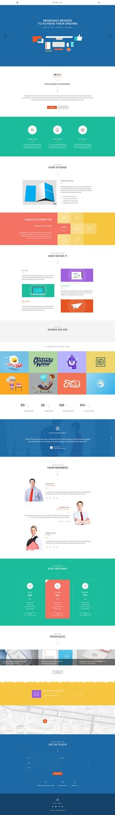 Buzz - Flat OnePage Web Template on Behance