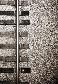 wide Railroad tracks