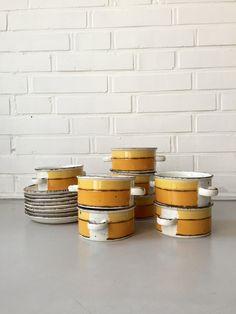 Vintage Suppentassen, Set 8 Stück, Bowls, Stonehenge Midwinter Sun, England, Mid Century, Pottery von moovi auf Etsy