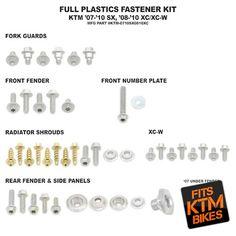 Bolt Plastic Fastener Kit KTM XC 08-10