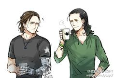 Bucky and Loki<<<Wouldn't it be cool if they met and became friends? Bam perfect