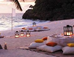 Wanna have a dinner on the beach??? Like and repin!;) ~ BeNaughty.com