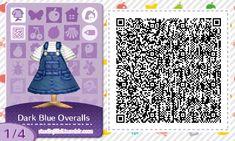 °˖✧light and dark blue overall dresses✧˖° by studiojillbli.tumblr.com#acnl #qrcode #qroveralls #overalls