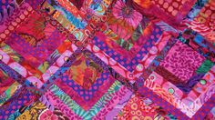 "kaffe fassett ""partial log cabin"" quilt- I have all these fabrics...."