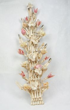 Sea Shell Folk Art Tree Of Life Wall Hanging Beach Coastal Decor