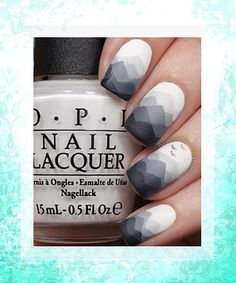 These monochromatic manis are anything but boring