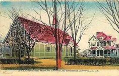 Sayville Long Island New York 1907 St Lawrence Catholic Church Vintage Postcard