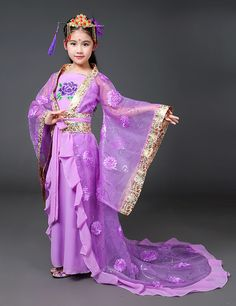 Traditional Hanfu Dance Dress for Girls | WayAsian  sc 1 st  Pinterest : national costume for kids  - Germanpascual.Com