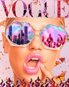'VOGUE reflections ' Poster by byoungcollages - - Millions of unique designs by independent artists. Collage Mural, Bedroom Wall Collage, Photo Wall Collage, Wall Art Collages, Wall Collage Decor, Foto Poster, Poster Wall, Aesthetic Collage, Aesthetic Photo